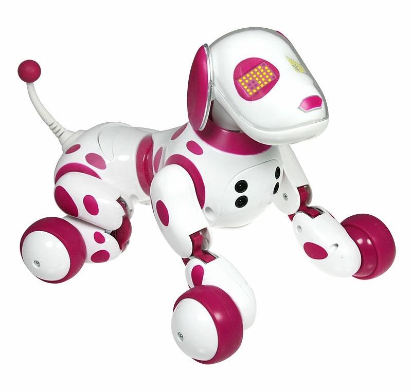 Интерактивный робот-собака Зуми розовая Zoomer