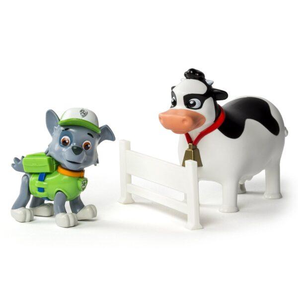Игрушка Спасатель с питомцем Роки с коровой Щенячий патруль Paw Patrol