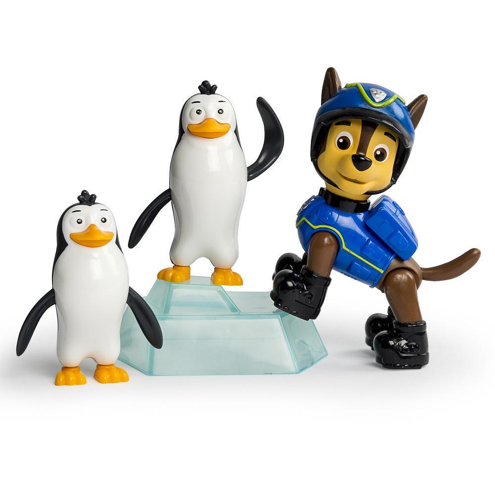 Игрушка Спасатель с питомцем Чейз с пингвинами «Щенячий патруль» Paw Patrol