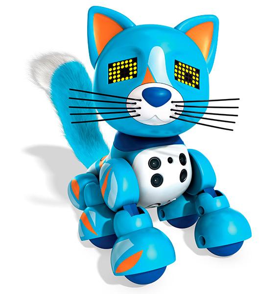 Интерактивный котенок Голубой Meowzies Zoomer