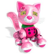 Интерактивный котенок Розовый Meowzies Zoomer