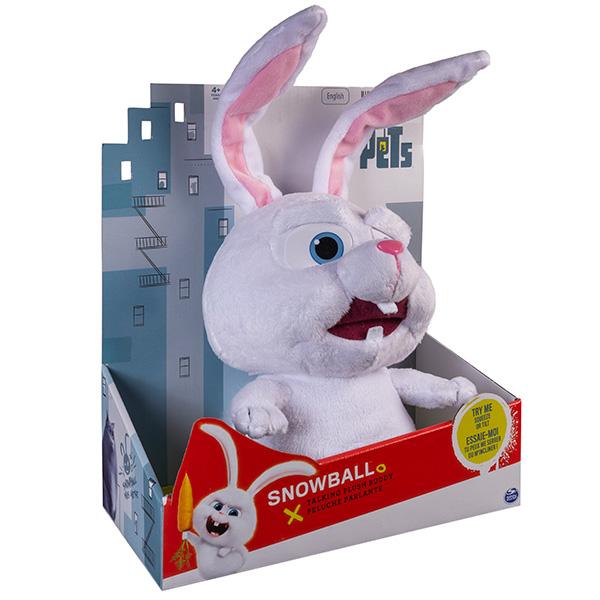 Мягкая игрушка со звуком Кролик Снежок 28 см «Тайная жизнь домашних животных»