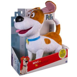 Мягкая игрушка со звуком Терьер Макс 28 см Тайная жизнь домашних животных