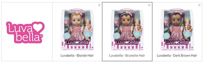 Интерактивная кукла Luvabella Different Hair