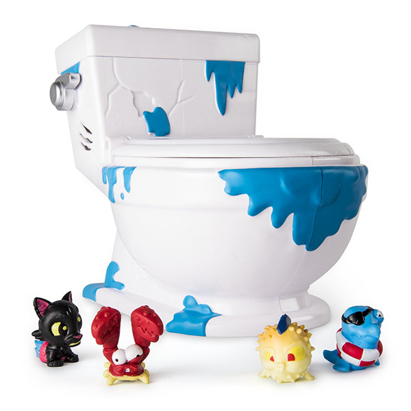 Игровой набор Туалет - коллектор 4 фигурки Flush Force