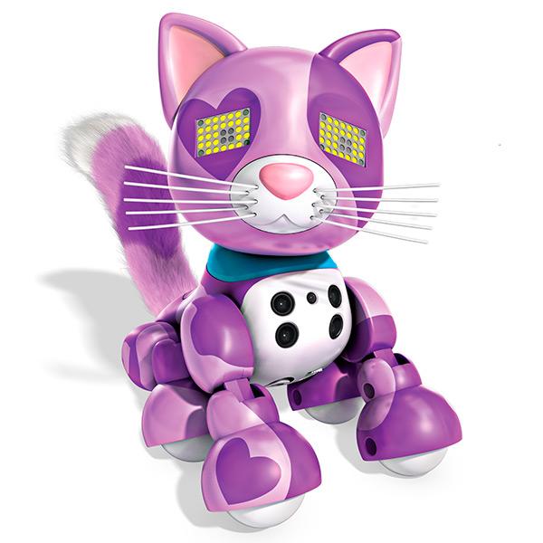 Интерактивный котенок Сиреневый Meowzies Zoomer