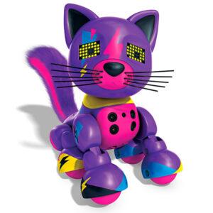 Интерактивный котенок Фиолетовый Meowzies Zoomer