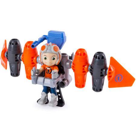 Строительный набор большой с фигуркой героя Jetpack Rusty Rivets