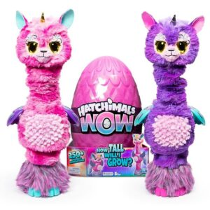 Интерактивная игрушка Лама-единорог HatchiWow растущая 81 см Hatchimals