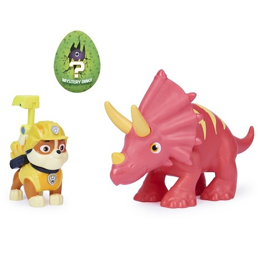 Набор фигурок Раббл, Трицератопс и динозавр-сюрприз Dino Rescue Щенячий патруль Paw Patrol